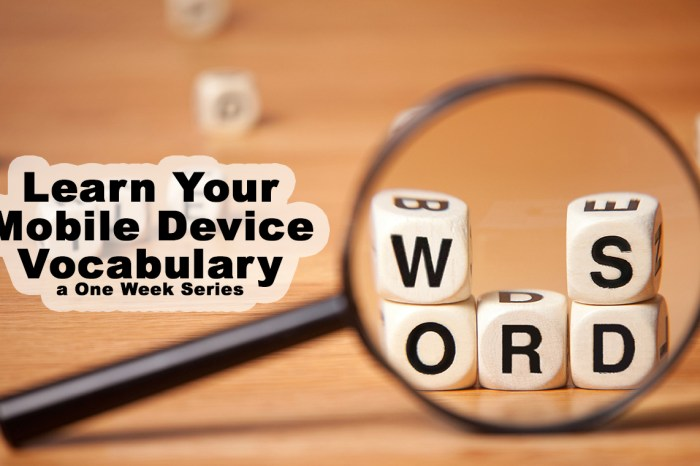 Mobile Device Vocabulary Lesson 1