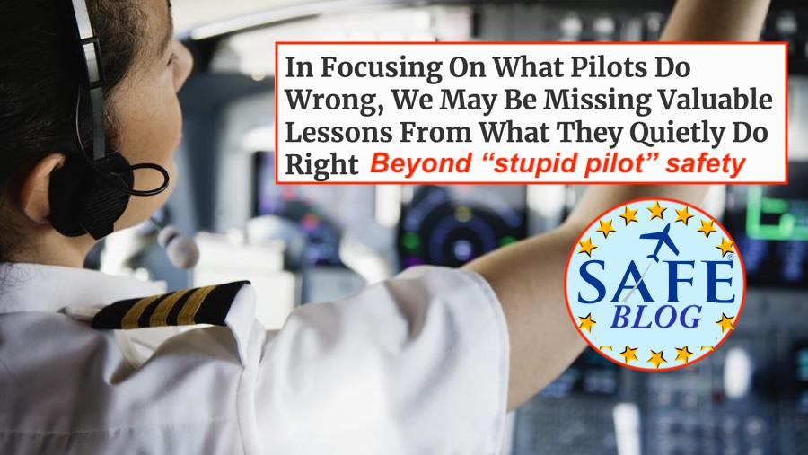 "Beyond the ""Stupid Pilot"" View of Safety!"