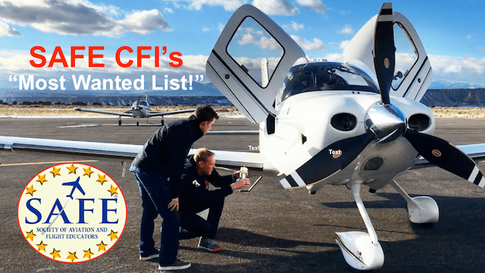 "The SAFE CFI's ""Most Wanted List"""