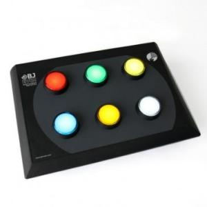 BUTTON 6 This versatile control allows you to interact in a simple way with the elements of a multi-sensory room. It allows you to control the colour and activation of any Luminea device such as a bubble tube, Fibre Optics, ball pool, etc.