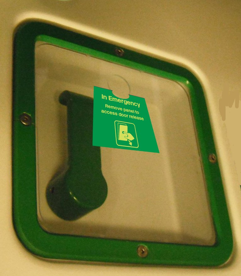 Pull Out Emergency Panels Can Be Used For Larger Break Glass Parts