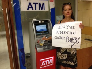 Does your bank fund cluster bombs? Patricia Garcia