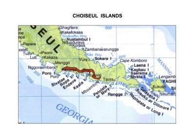 Solomon Islands Exhibition History maps Choiseul Islands A3