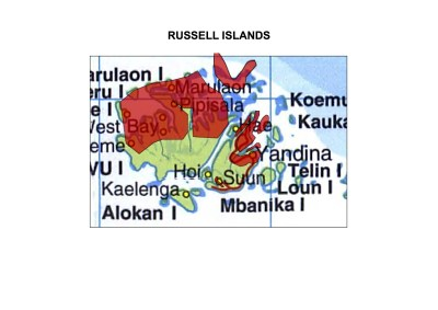 Solomon Islands Exhibition History maps Russell Islands A3