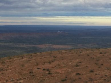 View of Pine Gap from Mt Gillan NT