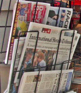 A newsstand in London