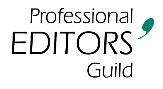 Professional Editors' Guild logo