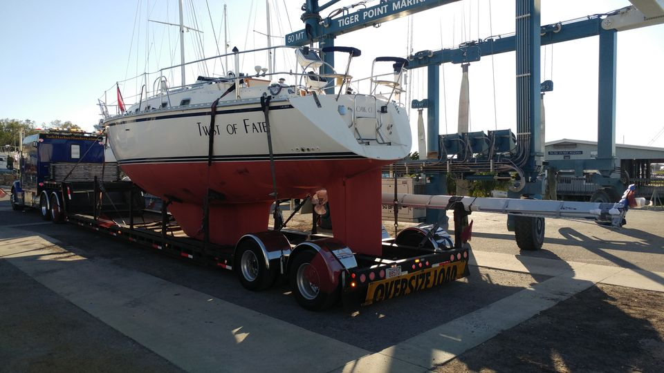 boat hauling service, marine transport, sailboat movers