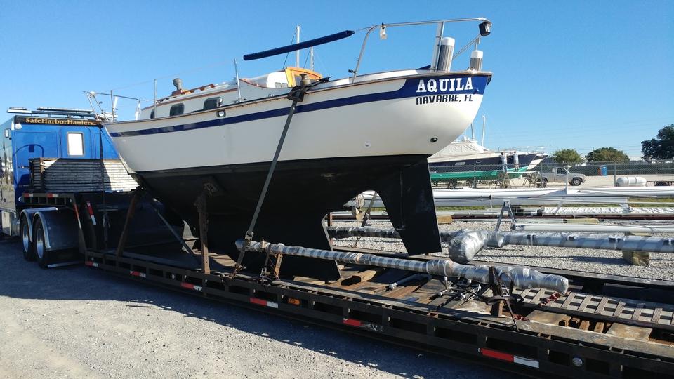sailboat transport, sailboat delivery, sailboat transport