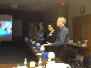 Our hosts Kim Jones and Bob Hite participating in the class
