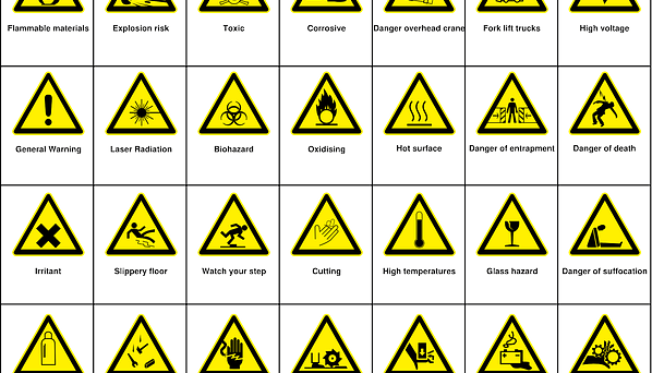 safety signs and symbols