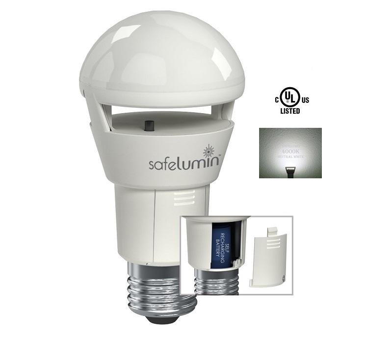 half off c640c 9158f Safelumin 4000K 1PK 500lm Rechargeable LED Light Bulb | Safelumin