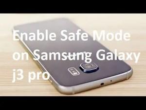 Enable Safe Mode on Samsung Galaxy j3 pro