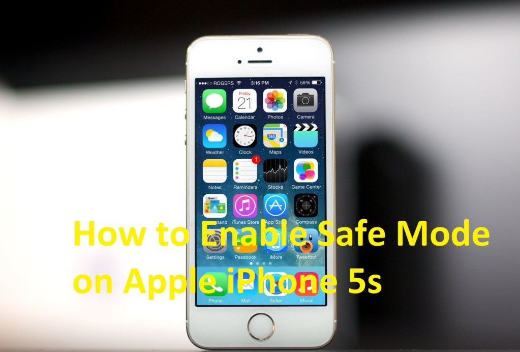 Enable Safe Mode on Apple iPhone 5s
