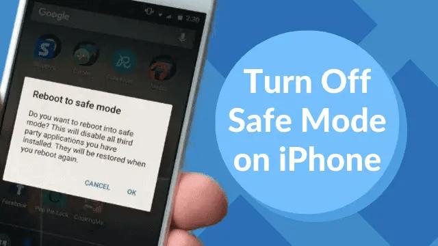 turn safe mode ON in Apple iOS 10