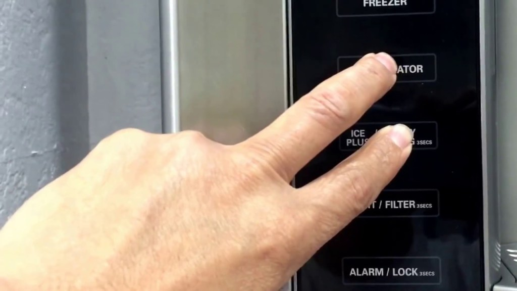 How do I reset my LG refrigerator control panel?