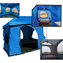WATERPROOF FABRIC Standing Room 6-person tent for camping