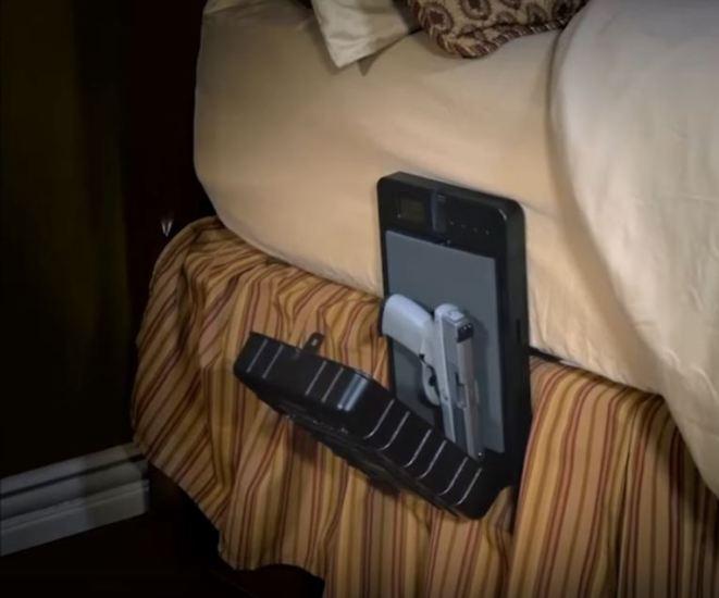 biometric gun safe nightstand