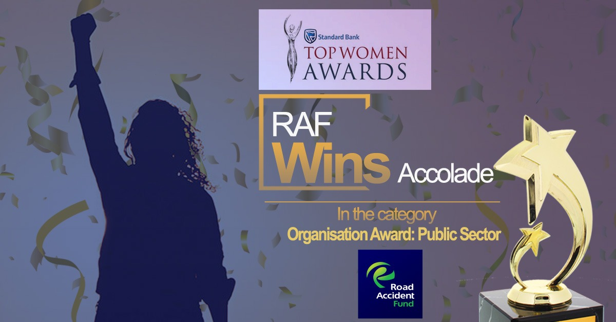 RAF WINS AT STANDARD BANK TOP WOMEN AWARDS