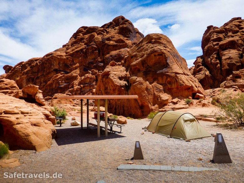 Camping im Valley of Fire