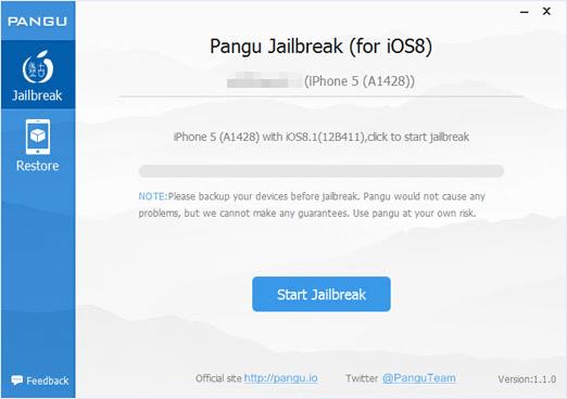 Pangu begin UI jailbreak iphone