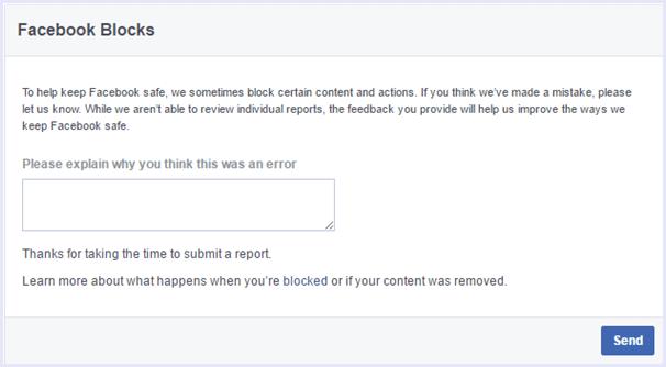 facebook blocks