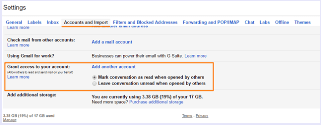 grant account access gmail security