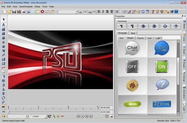 aurora 3d animation software