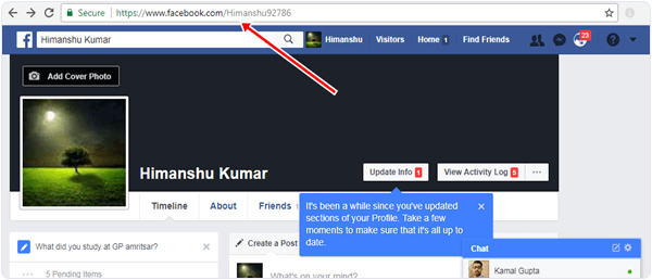 facebook-timeline-link  How To See Who View Your Facebook Profile facebook timeline link