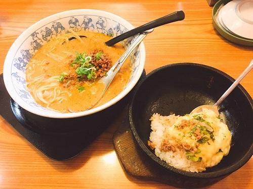 元祖タンタン麺とリゾット用ご飯の写真