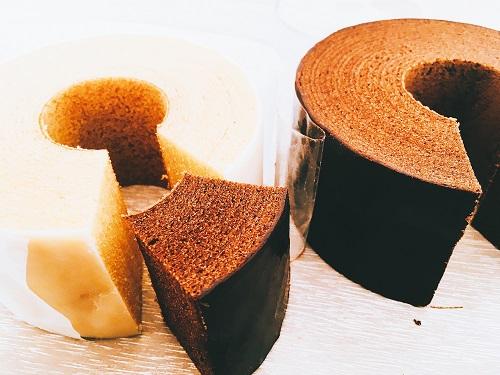 KIHACHI バームクーヘン白と黒の商品写真