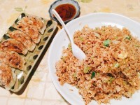 桃仙の五目炒飯と焼き餃子