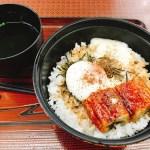 「浜名湖SA」やらまいか亭の「うなトロ月見丼」と浜ちゃんの「浜松餃子」