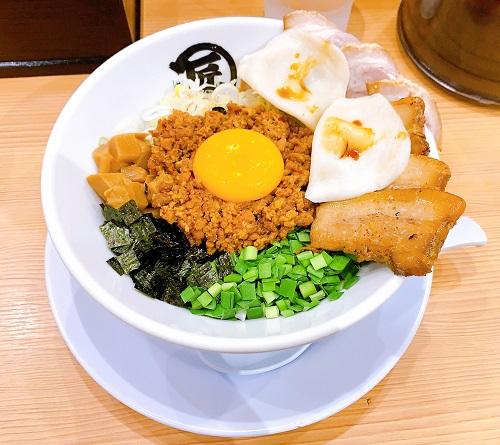 麺やマルショウ 地下鉄新大阪店の台湾まぜそばDX