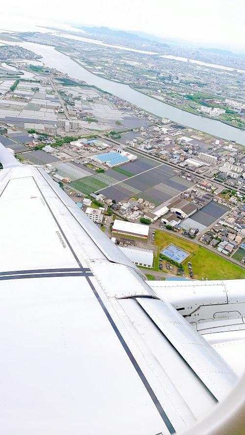 福岡線から見る松茂の景色(2021.5.18)
