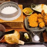 鹿児島帰りに博多で食べる薩摩豚!黒かつ亭さんのひれかつ海老定食が最高過ぎる☆