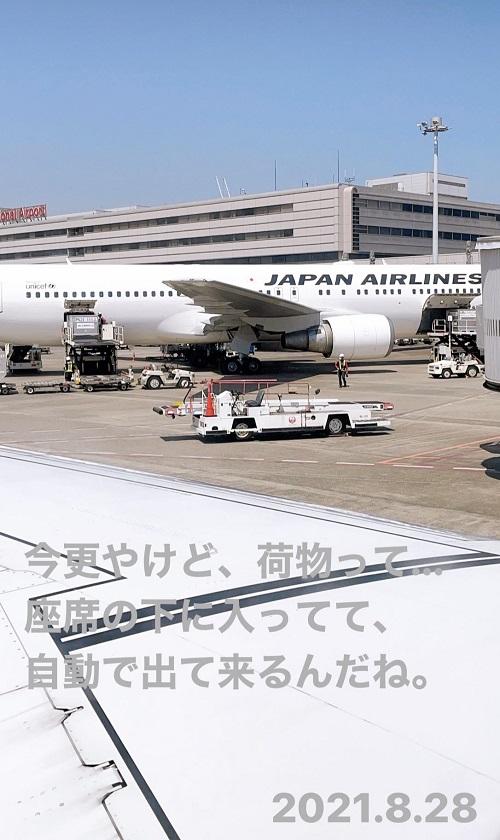 羽田空港での荷物の降ろし風景(2021.8.28)