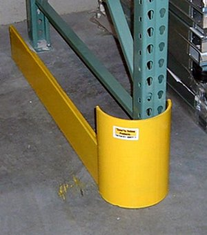 curved end of aisle rack guard on save