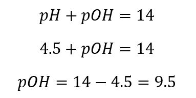 ASP Math pH and pOH example 1