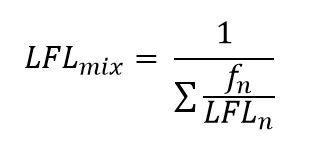 ASP CSP Exam Math Lower Flammability Limit of a Mixture Equation