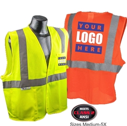 SV2 - Class 2 Safety Vest Custom Printed