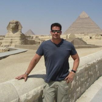 Spencer Coursen in Giza, Egypt