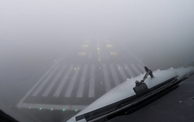 Approach in fog and illusion