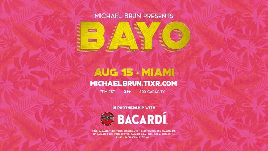 Michael Brun s'embarque dans une aventure numérique avec Bacardi