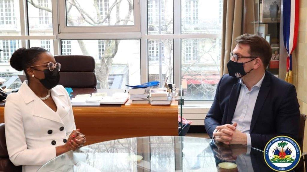 La culture haïtienne au cœur d'une échange entre la Consule Générale de la République d'Haïti et le Maire du 17ème arrondissement de Paris
