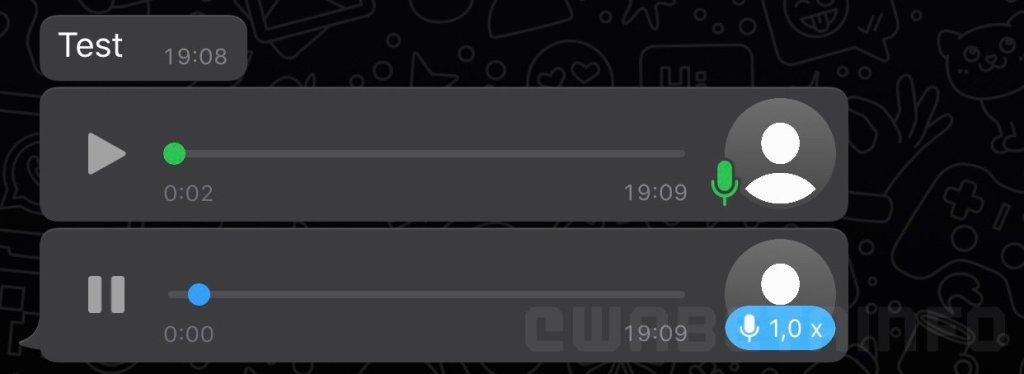 WhatsApp : la dernière mise à jour vous permet d'accélérer les messages vocaux