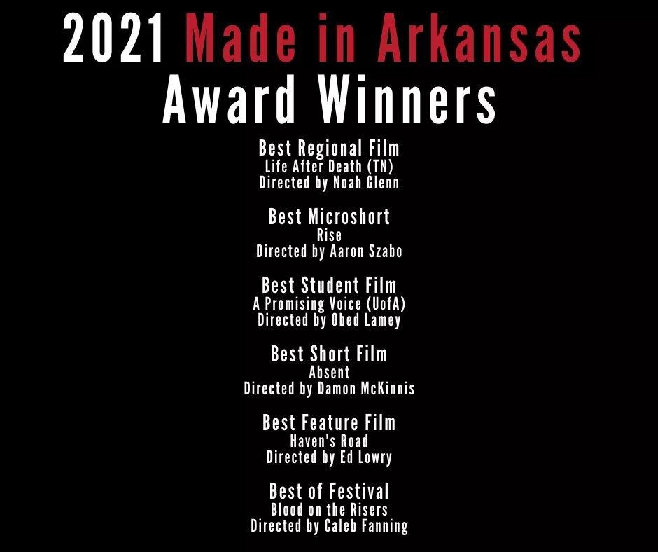 Obed Lamy remporte le prix du « Meilleur Film Étudiant » au Festival de Film made in Arkansas 2021