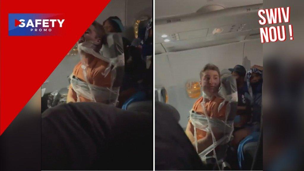 Il finit ligoté à son siège d'avion après avoir tripoté deux hôtesses de l'air