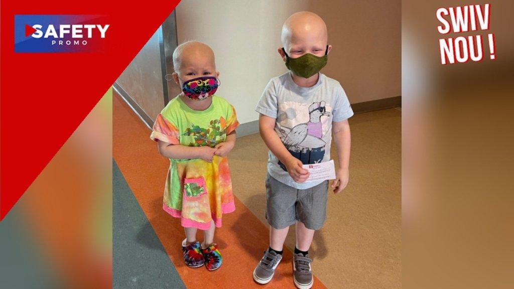 Les retrouvailles touchantes de deux enfants de 3 ans, sortis de l'hôpital après avoir lutté ensemble contre le cancer