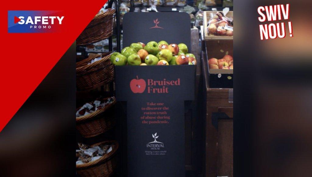 Au Canada, cette supérette vend des pommes abîmées pour sensibiliser aux violences conjugales